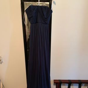 David's Bridal Long Mesh 6 tie Bridesmaid Dress